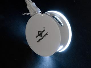 Концентратор Vantec UGT MH500 WH  3 порта  белый  со светод