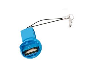 USB картридер брелок ORIENT MS 07 для Micro SD  T Flash голубой