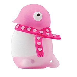 Флешка пингвин розовый