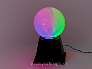 Плазма Шар USB Большой разноцветный RGB PL 125