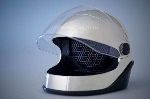USB Пепельница шлем с вытяжкой и угольным фильтром зеркальная