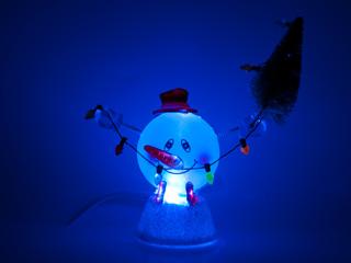 USB новогодний сувенир Веселый снежок ORIENT NY5183 с подсветкой