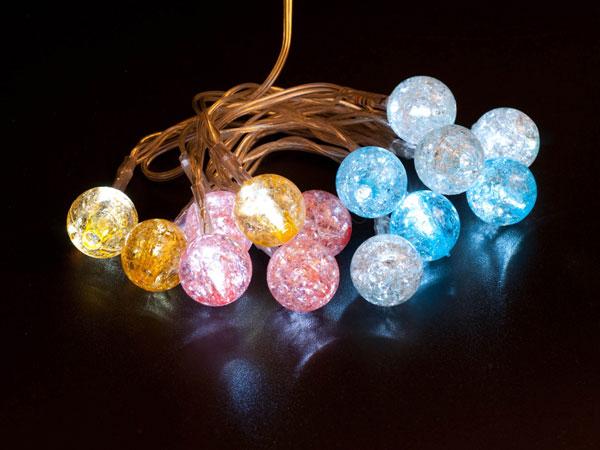 USB Гирлянда Шарики светящиеся разноцветные Orient NY1420