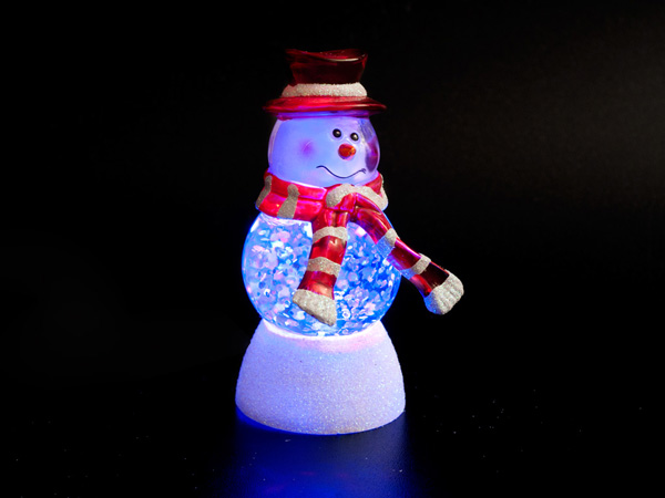USB Снеговик Orient NY6008 Арлекин с блестками и подсветкой