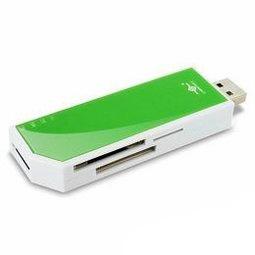 Кардридер внешний Vantec Go 2 0 19 in 1 USB 2 0 UGT CR925 GR зеленый