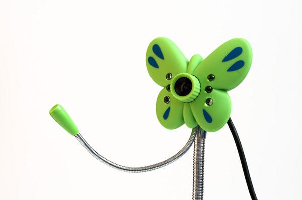 Веб камера с подсветкой в виде бабочки ORIENT QF-850 USB 2.0