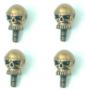 Винты с декоративной головкой   ЧЕРЕП  4 штуки   стилизованны под бронзу