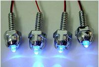 Винтики с синими светодиодами для украшения вентиляторов и блоухолов  4 шт
