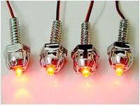 Винтики с красными светодиодами для украшения вентиляторов и блоухолов  4 шт
