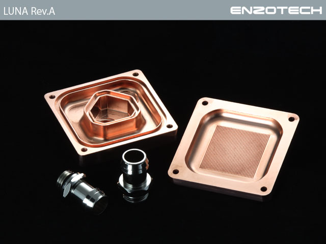 Водоблок для процессора Enzotech LUNA Full Copper Rev A CPU Intel AMD
