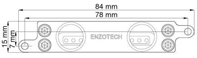 Водоблок для мосфета Enzotech WMST 78NP Forged Copper Mosfet для ASUS