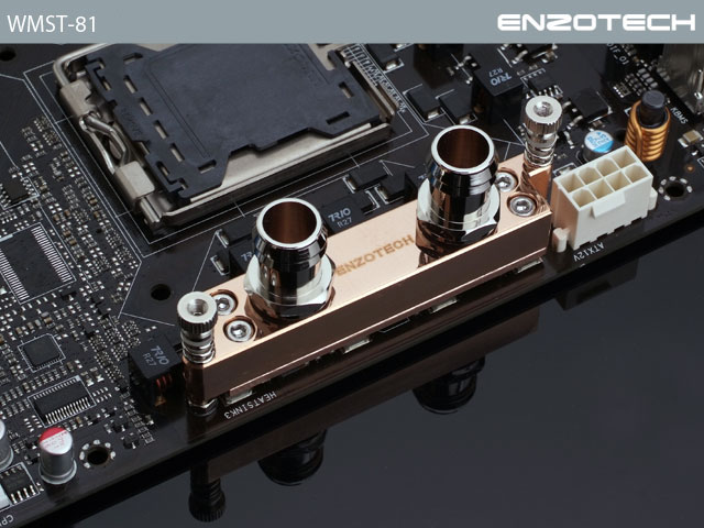 Водоблок для мосфета Enzotech WMST 81 Forged Copper Mosfet ASUS и XFX