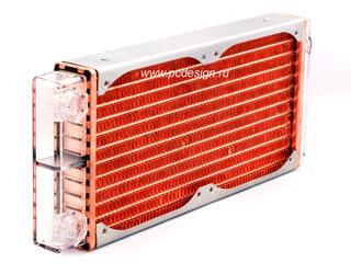Радиатор медный Magicool Elegant 240мм с прозрачной камерой из поликарбоната