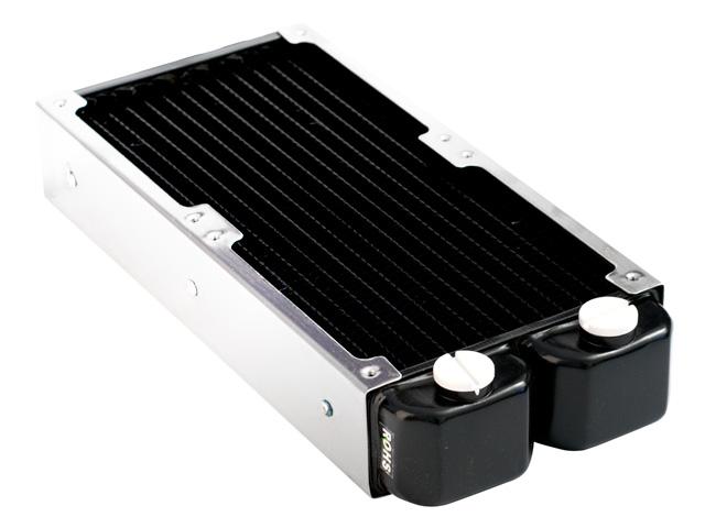 Радиатор для водяного охлаждения Nanoxia Bigblock 12 X2 черный с рамой