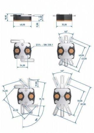Водоблок на северн  мост Alphacool HF 14 Smart Motion Universal B S черн серебр