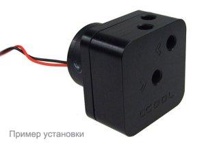 Пример установки крышки для помпы Alphacool HF D5 TOP Black Acetal G1-4 для помп Laing D5 и Swiftech MCP-650-655