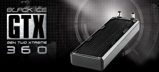Радиатор Black ICE GT Xtreme 360 с возможностью подключения 3 х 120мм вент