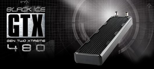 Радиатор Black ICE GT Xtreme 480 с возможностью подключения 4 х 120мм вент