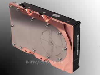 Водяное охлаждение жесткого SATA диска Aquacomputer aquadrive micro copper G1 4