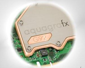 Водоблок aquagrafx для  видеокарт  NVIDIA GeForce 8800GT GTS с ядром G92