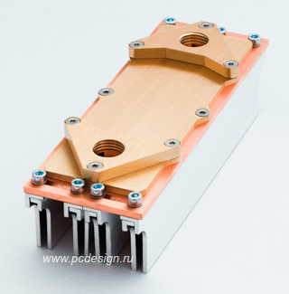 Водоблок на  опер  память MIPS RAM Freezer4 с 4 радиаторами для модулей  G1 4