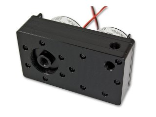 Крышка для помпы EK D5 Dual TOP G1 4 Black Acetal для двух помп