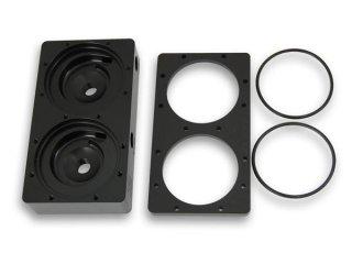 Крышка для 2 помп EK D5 Dual TOP 2 LOOPS Black Acetal для 2 резервуаров