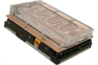Водяное охлаждение жесткого диска Alphacool HDD3 CU Plex