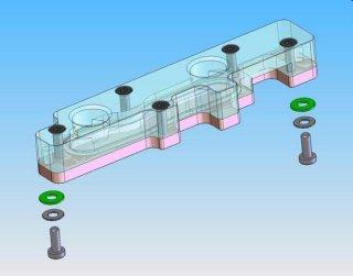 Водоблок для мосфетов EK MOSFET ASUS 2  крышка из акрила