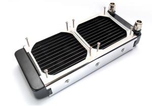 Радиатор Promodz  размер 138х46х315мм  с возможностью  подключения 2 х 120мм вен