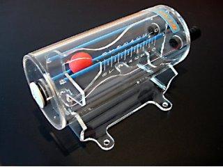 Резервуар для СВО с датчиком шариком Visual Trap прозрачный на подставке 45130