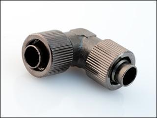Фитинг соединительный Black Connect 130 90 L Type G1 4 13х10мм черный