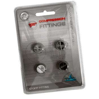 Фитинг заглушка G1 4 серебристая 4 шт  тонкая TFC 641501