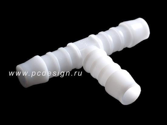 Тройник Т образный  диаметр 8 мм  подходит для шлангов  8 10  8 11 и 8 12