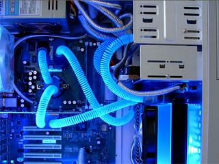 Пружины Smartcoils 14 2мм для защиты от перегиба шланга  синий  свет  в УФ  1м