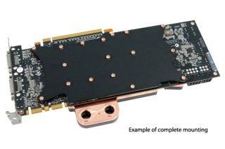 Пример установки задней пластины Alphacool NexXxoS NVXP Backplate NV580 на видеокарту с водоблоком
