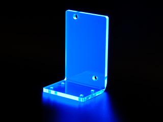 Подставка для помпы Laing DDC из синего прозрачного УФ акрила