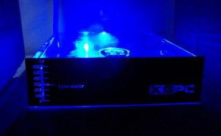 Резервуар XSPC   серебристая панель  для 5 25   отсека  с синей подсветкой