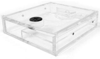Резервуар XSPC прозрачный  для 5 25   отсека  с синей подсветкой