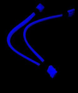 Моддерский разветвитель питания   синий